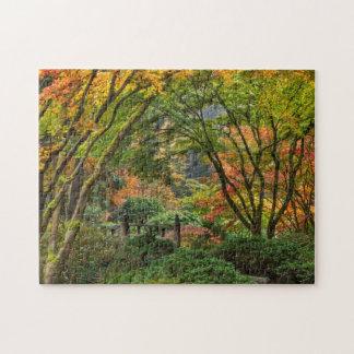 Japanese Gardens In Autumn In Portland, Oregon 4 Jigsaw Puzzle