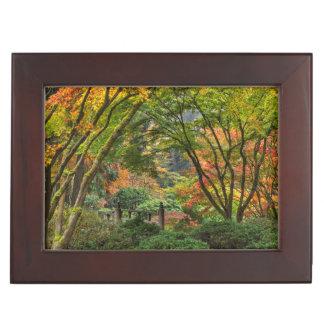 Japanese Gardens In Autumn In Portland, Oregon 4 Keepsake Box