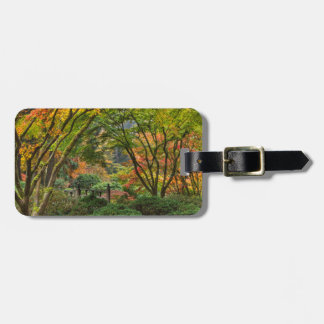 Japanese Gardens In Autumn In Portland, Oregon 4 Luggage Tag