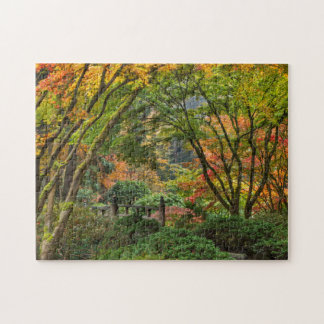 Japanese Gardens In Autumn In Portland, Oregon 4 Puzzles