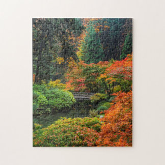 Japanese Gardens In Autumn In Portland, Oregon 5 Jigsaw Puzzle