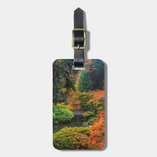 Japanese Gardens In Autumn In Portland, Oregon 5 Luggage Tag