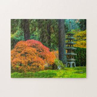 Japanese Gardens In Autumn In Portland, Oregon Jigsaw Puzzle