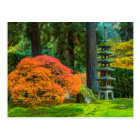 Japanese Gardens In Autumn In Portland, Oregon Postcard