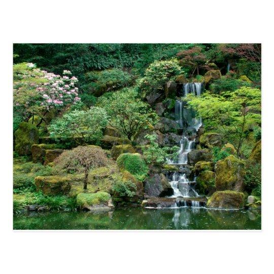 japanese gardens postcard