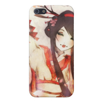 Japanese Geisha 6 Asian Kimono fan Cover For iPhone 5/5S