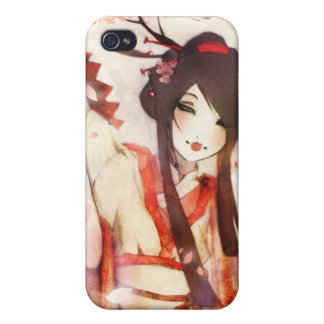 Japanese Geisha 6 Asian Kimono fan iPhone 4/4S Cover