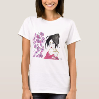 Japanese geisha animation drawing t-shirt gift