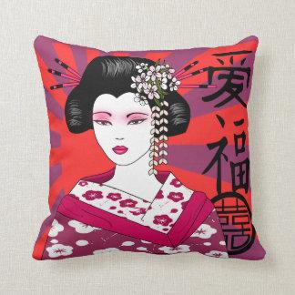 japanese geisha cushion