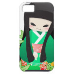 Japanese Geisha Doll - green series iPhone 5 Cover