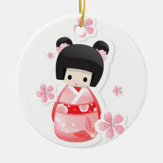 Japanese Geisha Doll Ornament