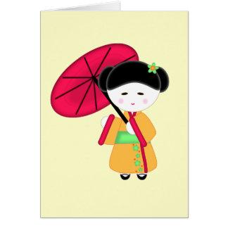 Japanese Geisha Girl Card