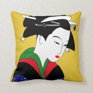 Japanese Geisha Girl Cushion