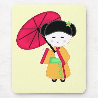 Japanese Geisha Girl Mouse Mat