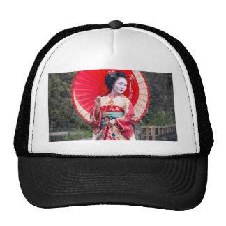 Japanese Geisha in Kyoto Cap