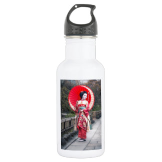 Japanese Geisha in Kyoto 532 Ml Water Bottle
