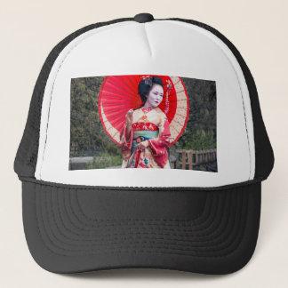 Japanese Geisha in Kyoto Trucker Hat