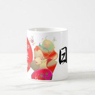Japanese GEISHA KIMONO GIRL Basic White Mug