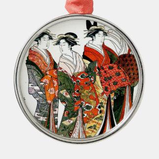 JAPANESE GEISHA VINTAGE ART CHRISTMAS ORNAMENT