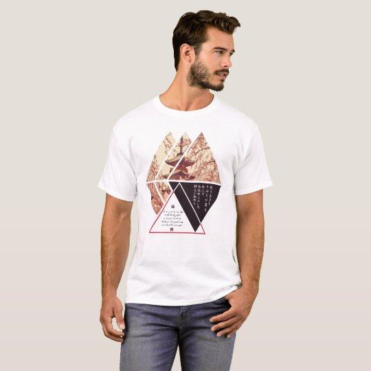 Japanese Geometric Kanji Karuta Autumn Haiku T-Shirt