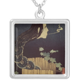 Japanese Ghost Silver Plated Necklace