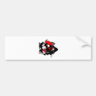 Japanese girl goth bumper sticker