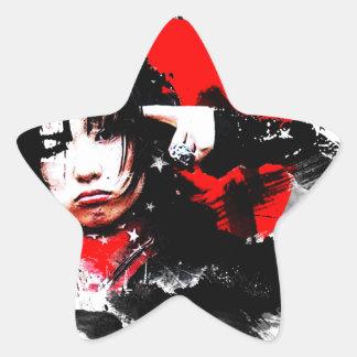 Japanese girl goth star sticker