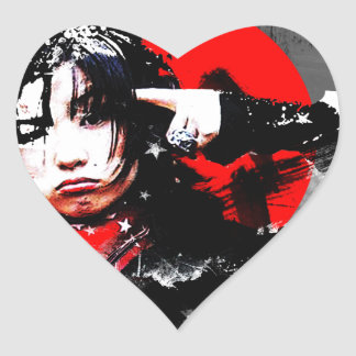 Japanese girl goth heart stickers