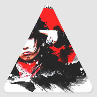 Japanese girl goth triangle stickers