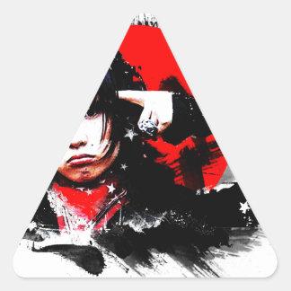 Japanese girl goth triangle sticker