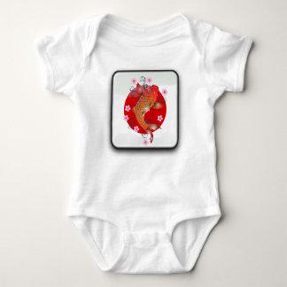 Japanese glossy flag baby bodysuit