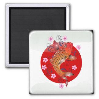 Japanese glossy flag magnet