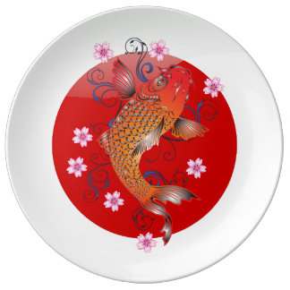 Japanese glossy flag plate