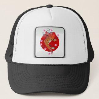 Japanese glossy flag trucker hat