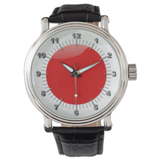 Japanese glossy flag watch
