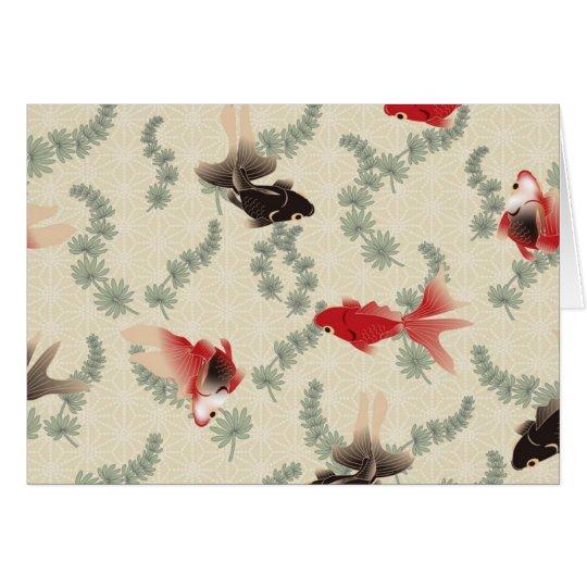 Japanese Goldfish Card