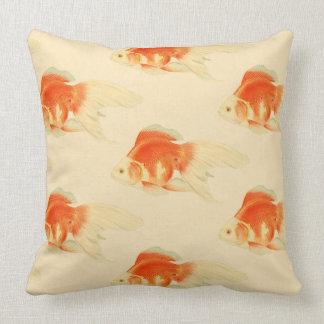 Japanese goldfish. The Ryukin. Throw Pillow