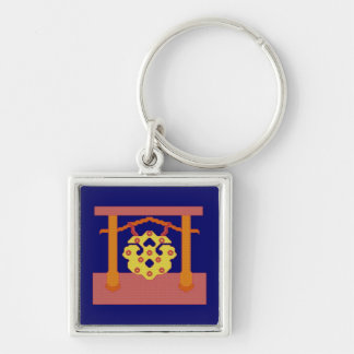 Japanese Gong Crest Keychain
