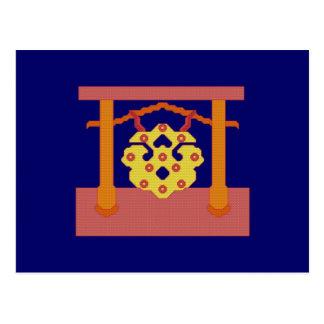 Japanese Gong Postcard