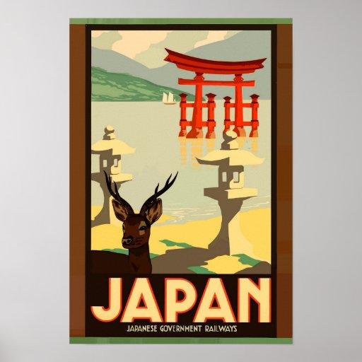 Japanese Government Railways Vintage Travel Poster