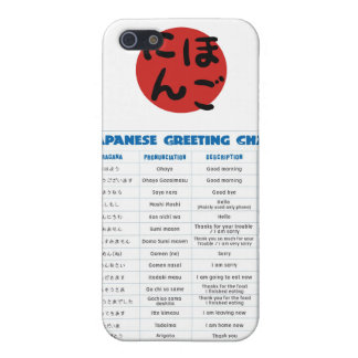 Japanese Greeting Chart Phone Case Case For iPhone 5/5S