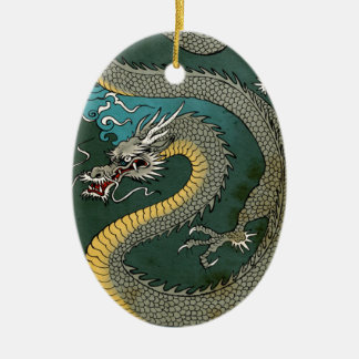 JAPANESE GREY DRAGON CHRISTMAS ORNAMENT