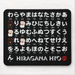 Japanese Hiragana(Alphabet) table Mouse Pad