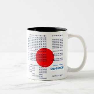 Japanese Hiragana and Katakana Alphabet Mug
