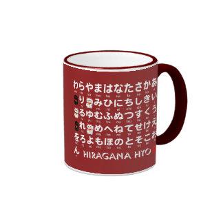 Japanese Hiragana & Katakana table(Alphabet) Ringer Mug