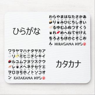 Japanese Hiragana & Katakana table (Sushi) Mouse Mat
