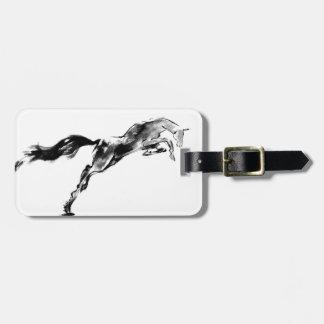 Japanese horse samurai art equestrian sumi luggage tag