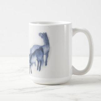 Japanese Horses Antique Reproduction Basic White Mug