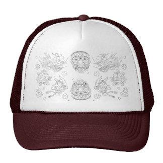 Japanese inspired tattoo hat