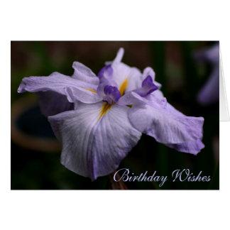 Japanese Iris Beauty Flower Birthday Card